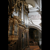 Passau, Dom St. Stephan, Orgelempore mit Hauptorgel