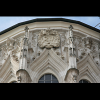Passau, Dom St. Stephan, Fensterspitzen am Chor