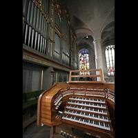 Straubing, Basilika St. Jakob, Orgel und Spieltisch