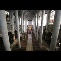 Straubing, Basilika St. Jakob, Innenraum von der Orgelempore aus