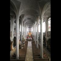 Straubing, Basilika St. Jakob, Blick von der Orgelempore in die Basilika