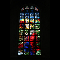 Straubing, Basilika St. Jakob, Fenster: Mose erhält die 10 Gesetzestafeln