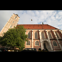 Ingolstadt, Liebfrauenmünster (Truhenorgel), Seitenansicht