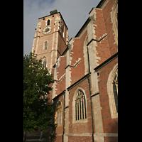 Ingolstadt, Liebfrauenmünster (Truhenorgel), Seitenschiff und Türme