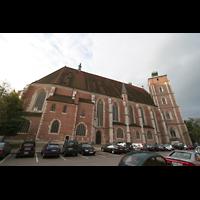 Ingolstadt, Liebfrauenmünster (Truhenorgel), Seitenansicht schräg vom Chor aus