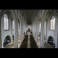 Ingolstadt, Liebfrauenmünster (Truhenorgel), Blick von der Orgelempore in die Kirche