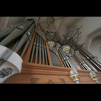 Ingolstadt, Liebfrauenmünster (Truhenorgel), Orgelprospekt perspektivisch