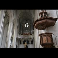 Ingolstadt, Liebfrauenmünster (Truhenorgel), Kanzel und Orgel