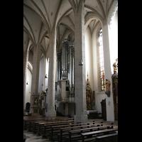 Eichstätt, Dom, Seitenschiff mit Orgel