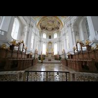 Neresheim, Abteikirche, Chor mit Chororgeln