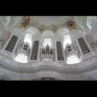 Neresheim, Abteikirche, Orgel von unten