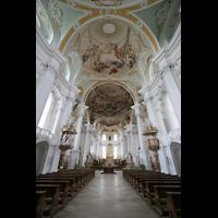 Neresheim, Abteikirche, Innenraum mit Deckengemälden