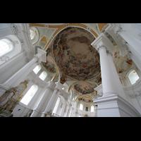 Neresheim, Abteikirche, Deckengemälde von der Orgelempore aus