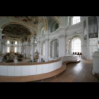 Neresheim, Abteikirche, Orgelempore