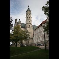 Neresheim, Abteikirche, Turm und Klosteranlage