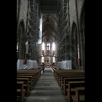 Nürnberg (Nuremberg), St. Lorenz (Positiv), Innenraum / Hauptschiff in Richtung Chor