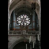 Nürnberg (Nuremberg), St. Lorenz (Positiv), Große Orgel und Rosette