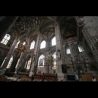 Nürnberg (Nuremberg), St. Lorenz (Positiv), Chororgel und Chor