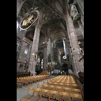 Nürnberg (Nuremberg), St. Lorenz (Positiv), Chorraum mit Engelsgruß