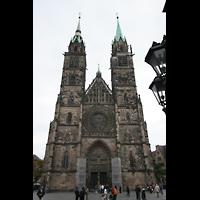 Nürnberg (Nuremberg), St. Lorenz (Positiv), Fassade