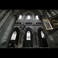 Nürnberg, St. Sebald, Blick auf die Obergaden des Hauptschiffs