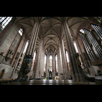 Nürnberg, St. Sebald, Ostchorraum mit Orgel