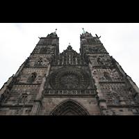 Nürnberg (Nuremberg), St. Lorenz (Positiv), Doppelturmfassade