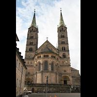 Bamberg, Kaiserdom (Hauptorgelanlage), Ostchor mit Doppeltürmen