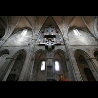 Bamberg, Kaiserdom (Kryptaorgel), Hauptschiffbögen mit Orgel