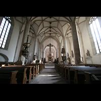 Merseburg, Dom St. Johannes und St. Laurentius, Innenraum / Hauptschiff in Richtung Chor