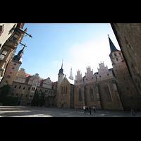Merseburg, Dom St. Johannes und St. Laurentius, Ansicht vom Hof