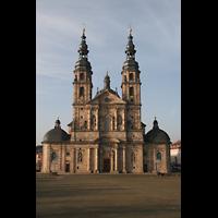 Fulda, Dom St. Salvator (Hochchororgel), Fassade mit Türmen