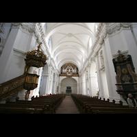 Fulda, Dom St. Salvator (Hochchororgel), Innenraum / Hauptschiff in Richtung Orgel
