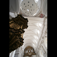 Fulda, Dom St. Salvator (Hochchororgel), Decke mit Kuppel