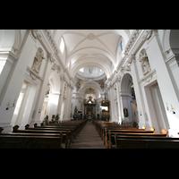 Fulda, Dom St. Salvator (Hochchororgel), Innenraum / Hauptschiff in Richtung Chor