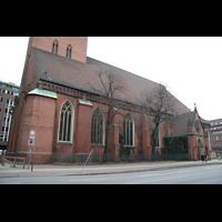 Hamburg, St. Jacobi (Hauptorgel), Seitenschiff von der Steinstraße aus