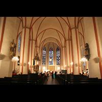 Hamburg, St. Jacobi (Hauptorgel), Innenraum / Hauptschiff in Richtung Chor