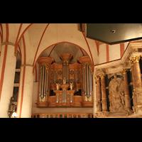 Hamburg, St. Jacobi (Hauptorgel), Kanzel und Orgel