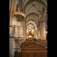 Paderborn, Dom St. Maria, St. Liborius und St. Kilian, Kanzel und Turmorgel