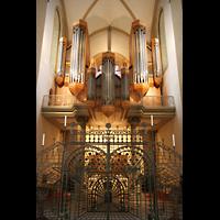 Paderborn, Dom St. Maria, St. Liborius und St. Kilian, Turmorgel mit Gitter