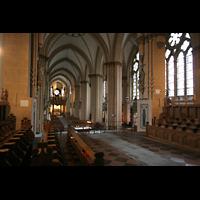 Paderborn, Dom St. Maria, St. Liborius und St. Kilian, Blick vom Chor zur Turmorgel