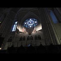 New York (NY), Episcopal Cathedral of St. John the Divine, State Trumpet an der Westwand