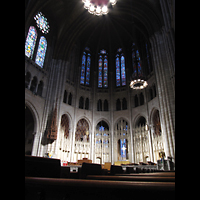 New York (NY), Riverside Church, Christ Chapel, Chorraum