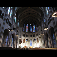 New York (NY), Riverside Church, Christ Chapel, Innenraum in Richtung Chor