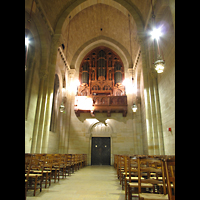 New York (NY), Riverside Church, Christ Chapel, Christ Chapel in Richtung Orgel