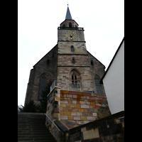 Kulmbach, St. Petri, Treppenaufgang und Turm