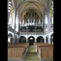 Kulmbach, St. Petri, Innenraum in Richtung Orgel