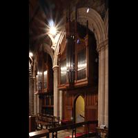 Scarsdale (NY), St. James the Less Episcopal Church, Hauptorgel, Evangelienseite, seitlich