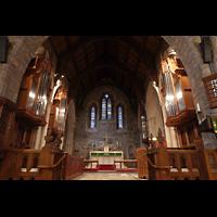 Scarsdale (NY), St. James the Less Episcopal Church, Hauptorgel und Chrorraum
