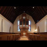Scarsdale (NY), St. James the Less Episcopal Church, Kirchen-Rückswand mit Antiphonal-Werk